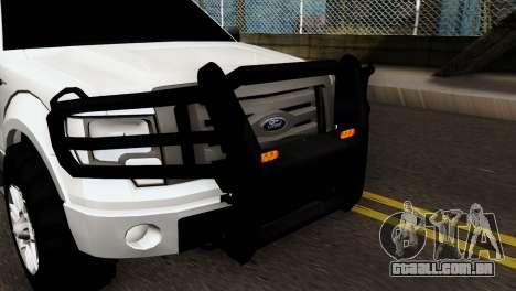 Ford F-150 4X4 Off Road para GTA San Andreas traseira esquerda vista