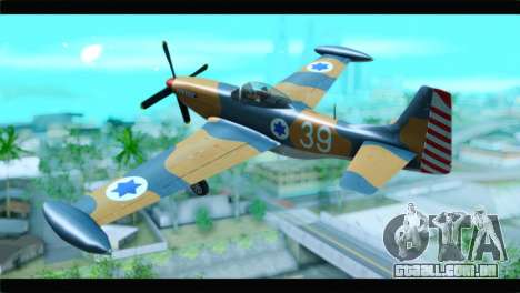 F-51D Israeli Air Force para GTA San Andreas esquerda vista