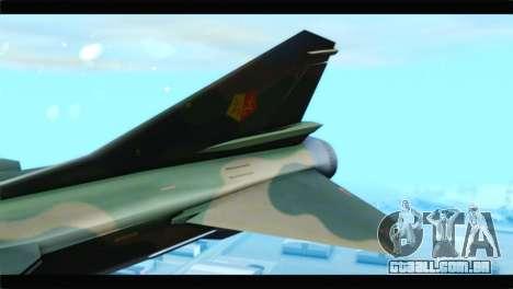 MIG-23ML Yuktobanian Air Force para GTA San Andreas traseira esquerda vista