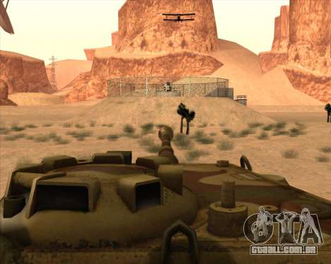 Pz.Kpfw. V Panther II Desert Camo para GTA San Andreas vista superior