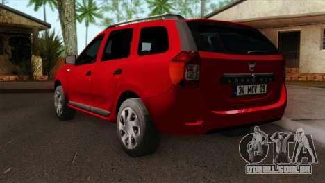 Dacia Logan MCV 2013 HQLM para GTA San Andreas esquerda vista