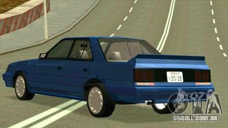 Nissan Skyline R31 para GTA San Andreas traseira esquerda vista