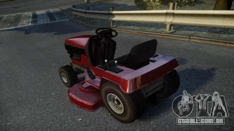 GTA V Lawn Mower para GTA 4 traseira esquerda vista