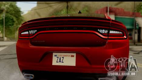 Dodge Charger RT 2015 para GTA San Andreas vista direita