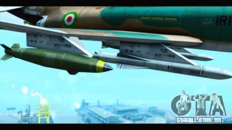 McDonnell Douglas F-4 IRIAF para GTA San Andreas vista direita