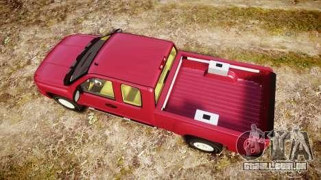 Chevrolet Silverado 1500 LT Extended Cab wheels1 para GTA 4 vista direita