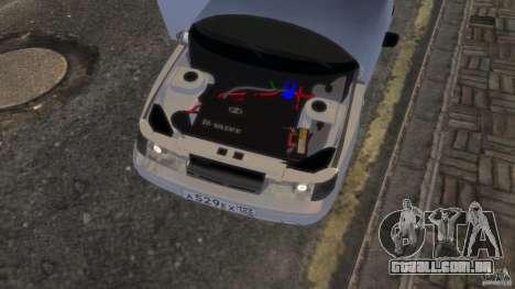 VAZ 2112 coupé BadBoy para GTA 4 vista de volta