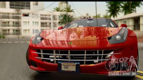 NFS Rivals Ferrari FF para GTA San Andreas traseira esquerda vista