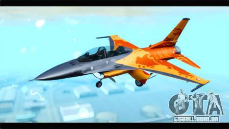F-16D Fighting Falcon Dutch Demo Team J-015 para GTA San Andreas
