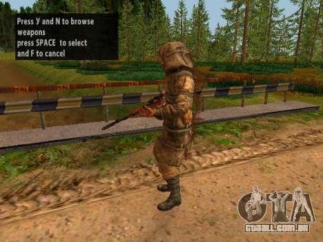 Soviética Sniper para GTA San Andreas sétima tela