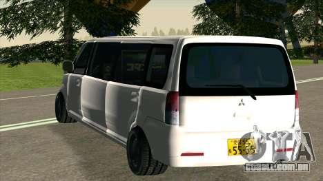 Mitsubishi EK Wagon Limo para GTA San Andreas vista direita