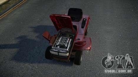 GTA V Lawn Mower para GTA 4 vista interior