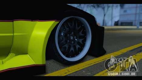 Nissan Skyline R34 BudMat para GTA San Andreas traseira esquerda vista