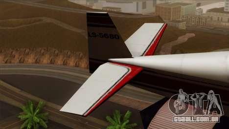 GTA 5 Stuntplane para GTA San Andreas traseira esquerda vista