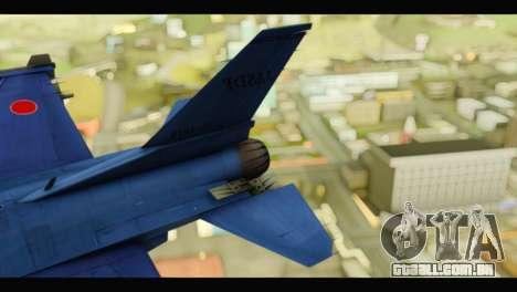 Mitsubishi F-2A JASDF Blue v2.0 para GTA San Andreas traseira esquerda vista