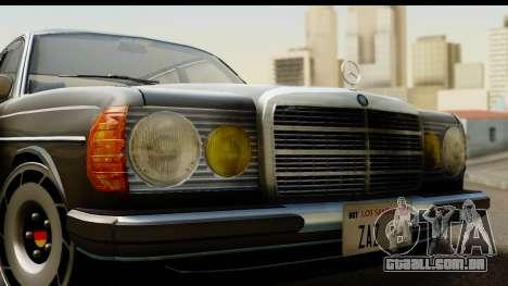 Mercedes-Benz 240 W123 Stance para GTA San Andreas traseira esquerda vista