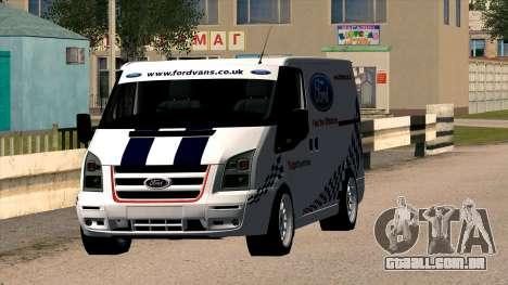 Ford Transit para GTA San Andreas vista traseira