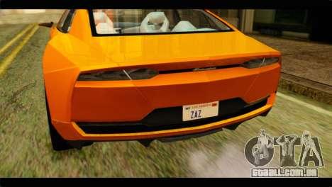 Lamborghini Estoque para GTA San Andreas vista traseira