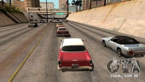 Novo tom, sem perder FPS para GTA San Andreas sétima tela