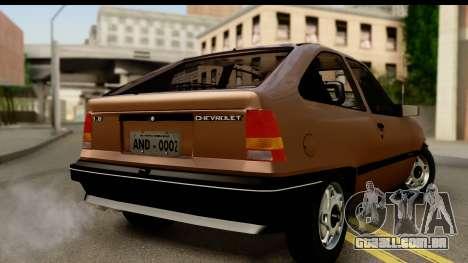 Chevrolet Kadett SL v2.0 para GTA San Andreas esquerda vista