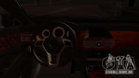 Mercedes-Benz CLS 350 2011 para GTA San Andreas vista traseira