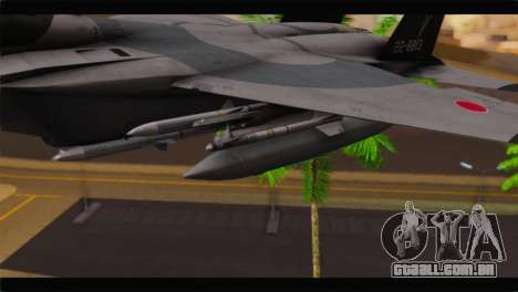 F-15J Hyakuri Air Base 30th Anniversary para GTA San Andreas vista direita