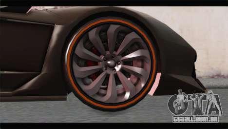 GTA 5 Pegassi Zentorno Spider para GTA San Andreas traseira esquerda vista