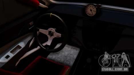 Mitsubishi Lancer Evo IX Monster Energy para GTA San Andreas traseira esquerda vista