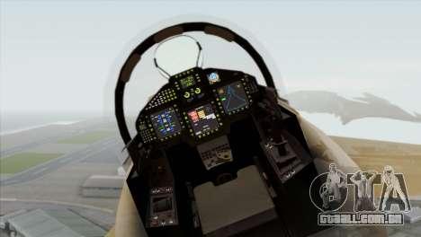 Eurofighter Typhoon Tropical Camo para GTA San Andreas vista traseira
