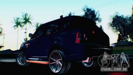 Range Rover Sport 2012 Samurai Design para GTA San Andreas esquerda vista