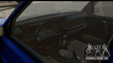 Volkswagen Golf Mk2 para GTA San Andreas vista interior