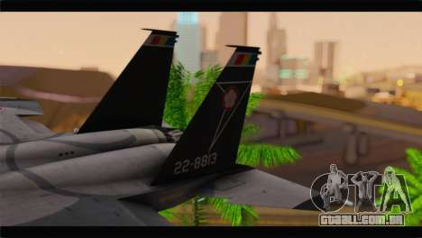F-15J Hyakuri Air Base 30th Anniversary para GTA San Andreas traseira esquerda vista