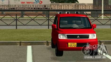 Mitsubishi eK Wagon para GTA San Andreas vista traseira