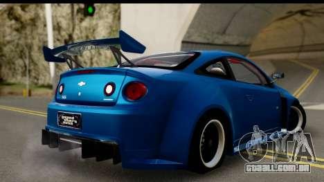 Chevrolet Cobalt SS Mio Itasha para GTA San Andreas esquerda vista