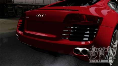 Audi R8 v2 para GTA San Andreas vista traseira
