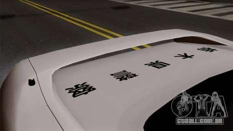 Honda NSX Police Car para GTA San Andreas vista traseira
