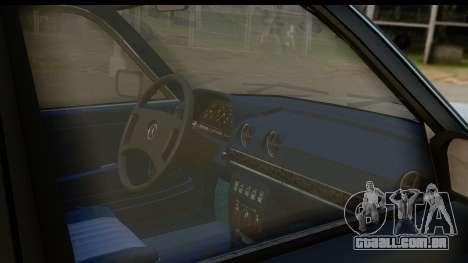 Mercedes-Benz 240 W123 Stance para GTA San Andreas vista interior