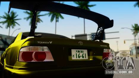Toyota Chaser Tourer V Fail Crew para GTA San Andreas vista direita