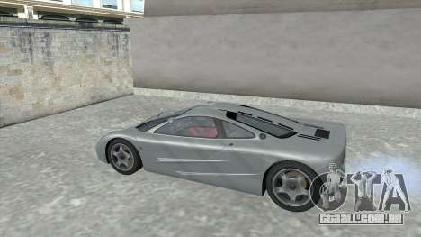 1992 McLaren F1 Clinic Model Custom Tunable v1.0 para GTA San Andreas vista interior