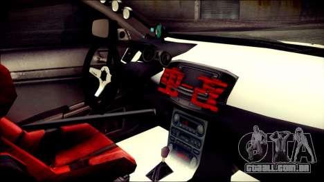 Mitsubishi Lancer Evolution X Juuzo Itasha para GTA San Andreas vista direita