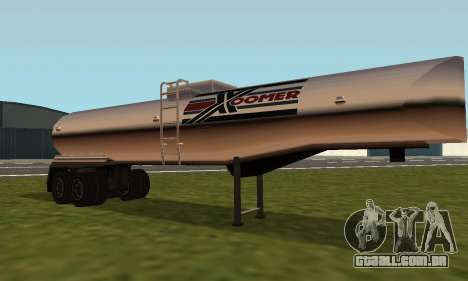 PS2 Petrol Trailer para GTA San Andreas esquerda vista