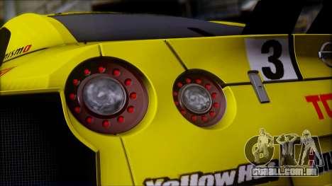 Nissan GTR R35 JGTC Yellowhat Tomica 2008 para GTA San Andreas vista superior