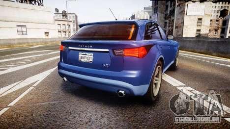GTA V Fathom FQ 2 para GTA 4 traseira esquerda vista