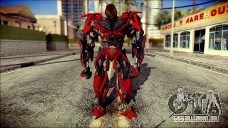 Stinger Skin from Transformers para GTA San Andreas