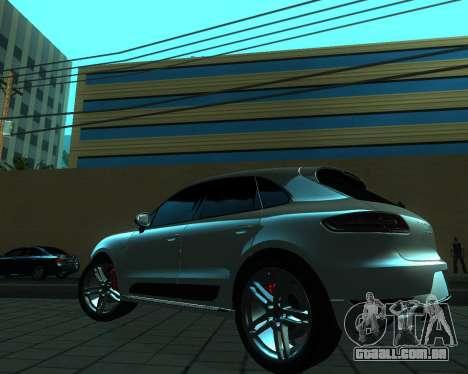 Porsche Macan Turbo para GTA San Andreas vista traseira