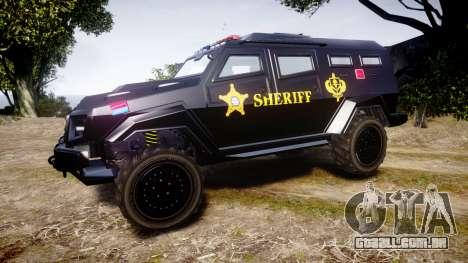 GTA V HVY Insurgent Pick-Up SWAT [ELS] para GTA 4 esquerda vista