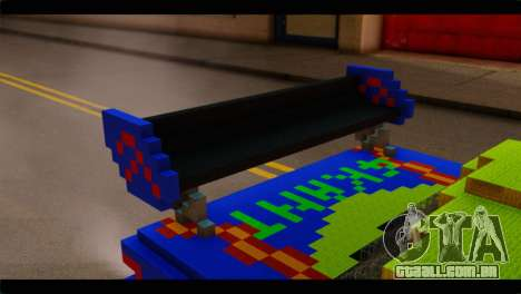 Minecraft Elegant para GTA San Andreas vista traseira