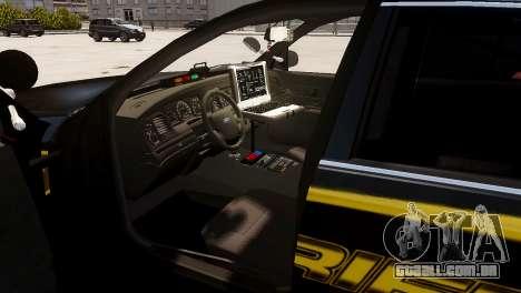 Ford Crown Victoria Sheriff LC [ELS] para GTA 4 traseira esquerda vista