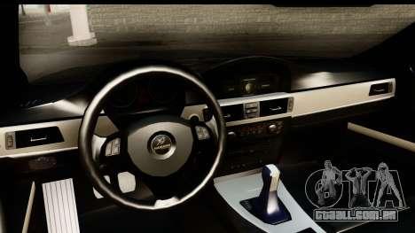 BMW M3 E90 Hamann para GTA San Andreas vista interior