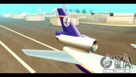 DC-10-30 PLL LOT para GTA San Andreas traseira esquerda vista